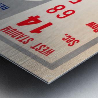 1970 Kansas Jayhawks vs. Washington State Cougars Metal print