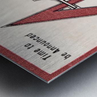 1981 Alabama Football Ticket Stub Art Metal print