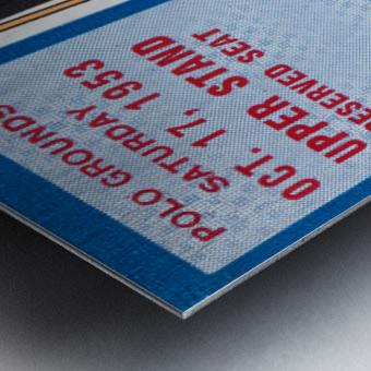 1953 Duke vs. Army Football Ticket Stub Art Metal print