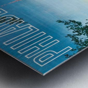 Greyhound Bus Travel Poster for Philadelphia Impression metal