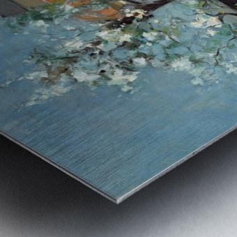 The back garden Metal print