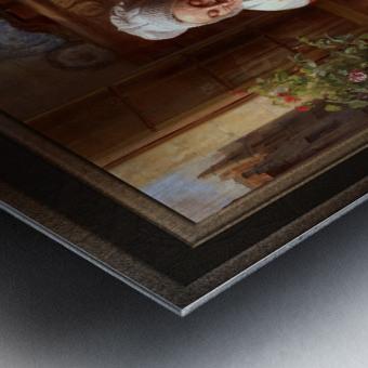 The Lace Maker by Josephus Laurentius Dyckmans Classical Fine Art Xzendor7 Old Masters Reproductions Metal print