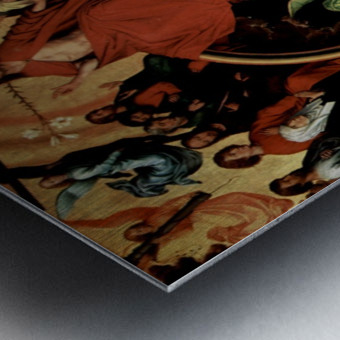 The Last Judgment, triptych, central panel Metal print