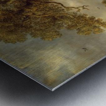 Landscape with Oak Metal print