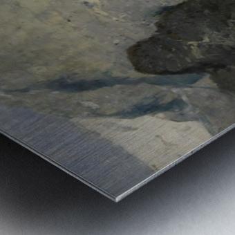 Blue Skies at Fjord Metal print
