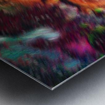 Color Flow F Metal print