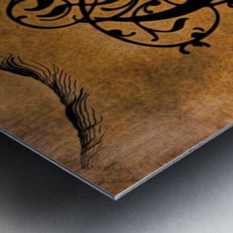 Beautiful Monogram Letter E Metal print