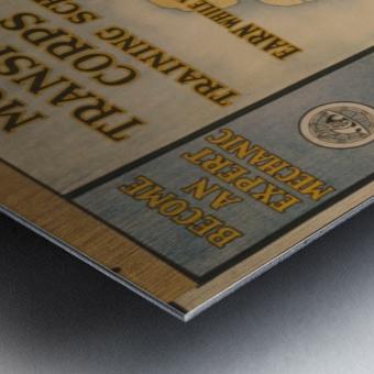Learn a trade Metal print