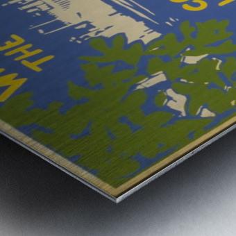 Visit Sea Cliff Metal print
