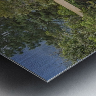 Pastaza River and Leafy Mountains Ecuador copia Metal print