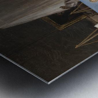 Le peintre dans son atelier Metal print