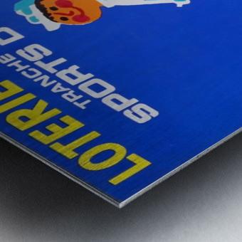 Loterie Nationale original vintage poster ski winter sport Impression metal