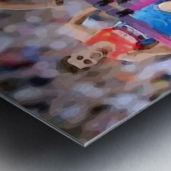Athletics_58 Metal print