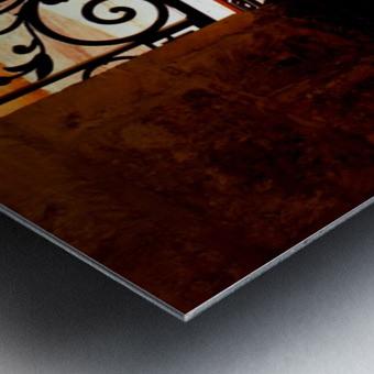 Courtyard shadows Metal print