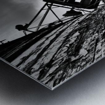 Angled wreck Metal print