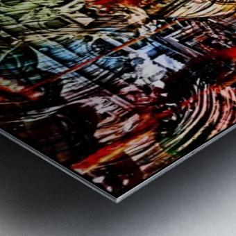 The World  Becomes a Blur Metal print