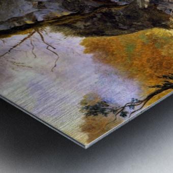 Landscape with cliffs Metal print