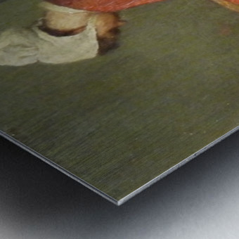 La tailleuse de soupe Metal print