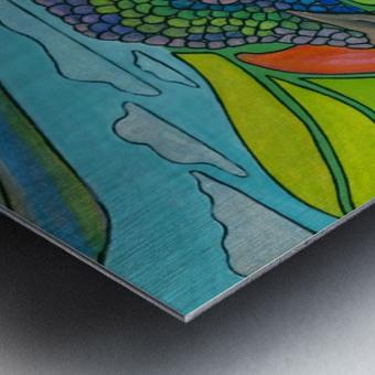 In To The Hummingbird's Eye Metal print