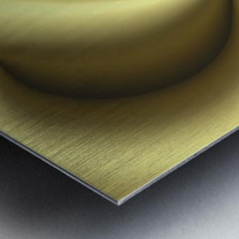 Gold Abstract Metal print