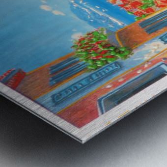 postcard Metal print