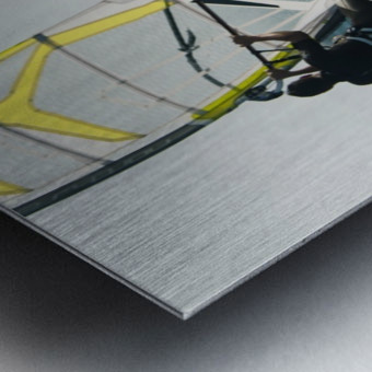 Windsurfing; Tarifa, Cadiz, Andalusia, Spain Metal print