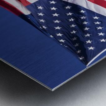 American Flag; Pahreah, Utah, United States of America Metal print