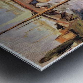 Claude_Monet_dans_son_bateau_atelier_1874 by Manet Metal print