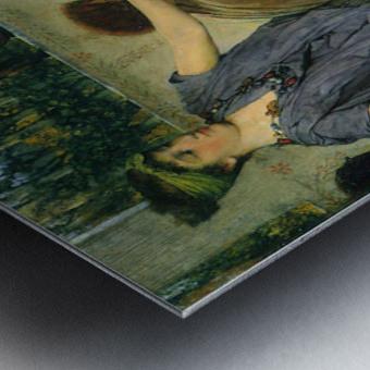Pottery Painting by Alma-Tadema Metal print