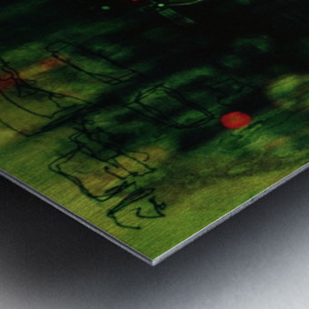 Double Exposure Serie Metal print
