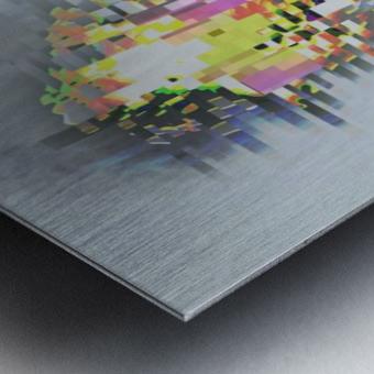 Glitch Serie Metal print