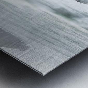 Surf breaks on the rocks; Manzanita, Oregon, United States of America Metal print