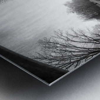 The Canal, Black and White Metal print