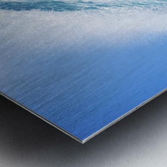 Blue Ocean Wave Metal print