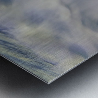Ocean wave blurred by motion; Hawaii, United States of America Metal print