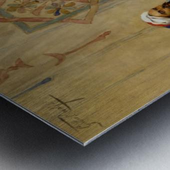 The Game of Tavli Metal print