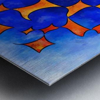 Blesmios V1- melting cubes Metal print