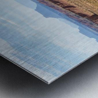Toward Factory Butte Metal print