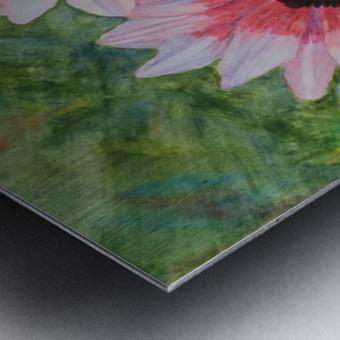 Two Daisies Metal print