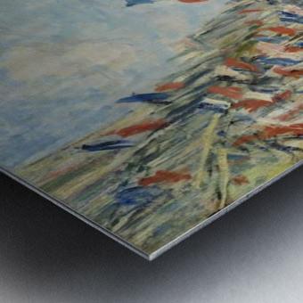 Monet - The Rue Montorgueil in Paris Metal print