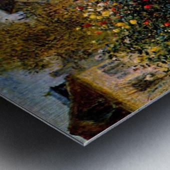 Monet painting in his garden in Argenteuil Metal print