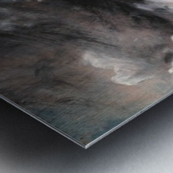 Rainstorm over the sea Metal print