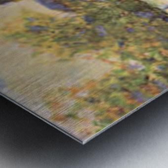 A house between trees by Seurat Metal print