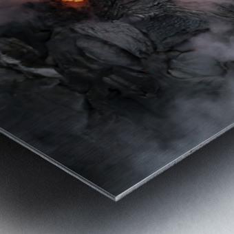 Simple lava shot Metal print