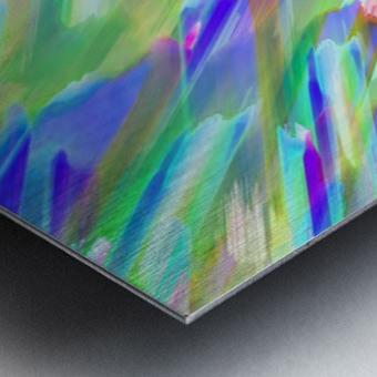 Colorful digital art splashing G401 Metal print