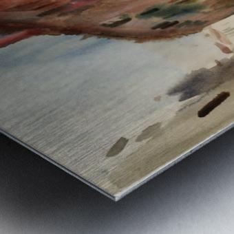 Side Canal, Venice Metal print