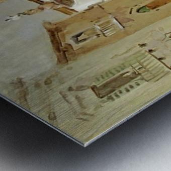 The Fountain, Taormina Metal print
