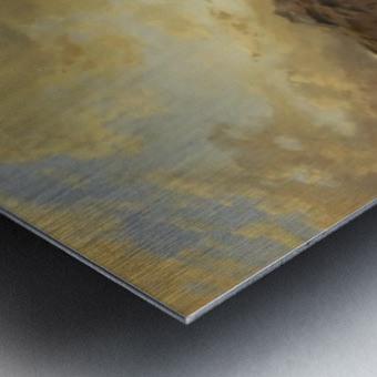 Caravan in a sandstorm Metal print