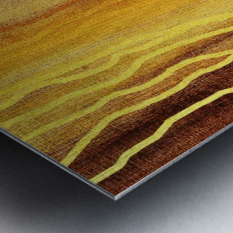 Organic Lines Beige Abstract Metal print