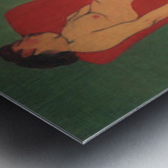 Nude in a Red Armchair by Felix Vallotton Metal print